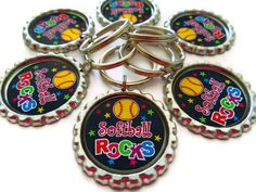 Softball Party Favors  Softball Rocks   Backpack by AllSports, $2.50