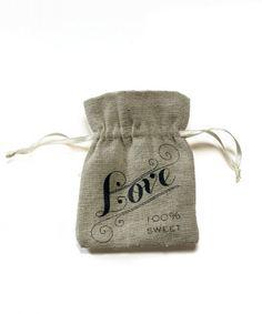 linen love treat bag