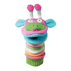 Cate & Levi - Hand Puppet - Premium Reclaimed Wool - Handmade in Canada - Machine Washable (Giraffe) Sock Puppets, Hand Puppets, Finger Puppets, Softies, Plushies, Marionette, Recycled Sweaters, Wool Sweaters, Puppet Making