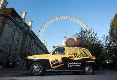 McCain has unveiled a potato scented taxi which will offer free rides for five minutes the time it takes to microwave a McCain Ready Baked Jackets potato. Baked Jacket Potatoes, Experiential Marketing, Oven Baked, Stunts, Taxi, Check It Out, Helping People, In The Heights, Cool Pictures