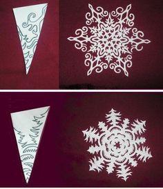 Как сделать красивые снежинки из бумаги и макарон своими руками