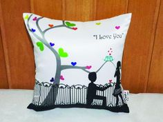 Throwpillow case/cushion cover Confession I LOVE YOU 30*30cm| Buyerparty Inc.