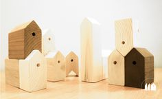 11 houses, wooden toys by SYAA Got Wood, Wooden Toys, Children, Kids, Bookends, Objects, Nursery, Houses, Case