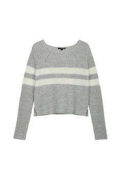 Grau-weiß gestreifter Strick-Pullover #newin #greywhite #Sweater #TALLYWEIJL