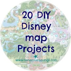 DIY disney map projects