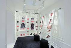 Red Valentino Store by Maria Grazia Chiuri & Pierpaolo Piccioli, Singapore Visual Merchandising, Valentino Store, Retail Interior Design, Branding, Design Furniture, Santa Maria, Box Design, Singapore, Photo Wall