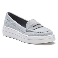 SO® Like Women's Platform Penny Loafers, Teens, Size: medium (7.5), Grey