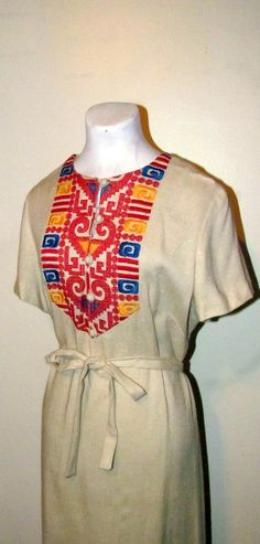 Fantastic 1950's/60's Embroidered Boho Day by BeauMondeVintage, $48.00