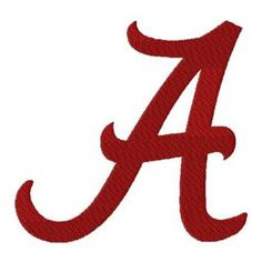"Photo of The University of Alabama ""A"" Logo 8 Different Sizes Includes both Applique and Stitched Machine Digitized Embroidery Design Pattern (Digital Files) - ME!!!!"