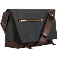 "Moshi Aerio Messenger Bag for 15"" Laptop or Tablet (Charcoal Black)"