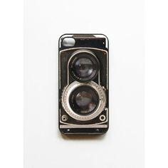 iPhone 4/4S Case Retro Twin Reflex Camera found on Polyvore featuring women's fashion, accessories and tech accessories
