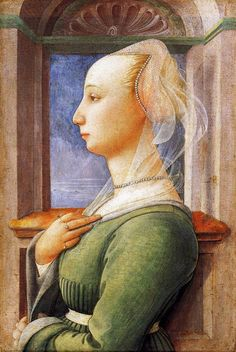 Fra Filippo Lippi (Italian Renaissance painter, c 1406–1469) also called Lippo Lippi, Portrait of a Woman