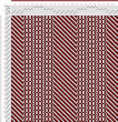 Hand Weaving Draft: Figure 2990, Atlas de 4000 Armures, Louis Serrure, 8S, 4T - Handweaving.net Hand Weaving and Draft Archive