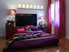 107 ideas for the youth room - Modern and creative set up Bedroom Decor For Teen Girls, Trendy Bedroom, Bedroom Ideas, Purple Bedrooms, Bedroom Colors, Girl Curtains, Net Curtains, Interior Design Examples, Youth Rooms