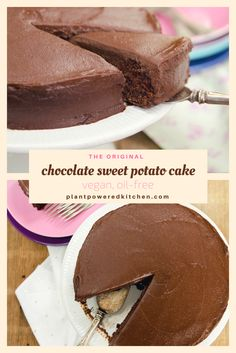Sweet Potato Chocolate Cake - the original! From Dreena Burton, plantpoweredkitchen.com