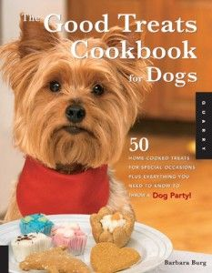 The Good Treats Cookbook for Dogs, By Barbara Burg.  A how-to for planning a festive, tasty pup bash!