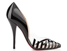 Christian Louboutin Patent leather and PVC Pivichic heels, €545.