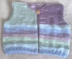 Benjamin un gilet,bébé aux couleurs déclinantes du tricot fait mains sur commande plusieurs tailles à votre disposition