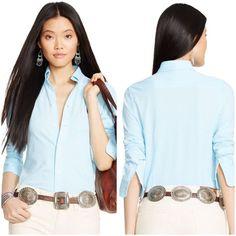 Ralph Lauren Sport -  Blue Mint Button Down Ralph Lauren Sport -  Blue Mint Button Down Shirt - Slim Fit - 95% cotton / 5% Elastane Ralph Lauren   Tops Button Down Shirts