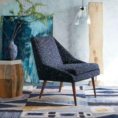 Parker Slipper Chair, Nordic Weave, Indigo