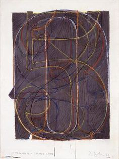0 through 9, 1962 / Jasper Johns / Pastel, crayon, and ink on paper