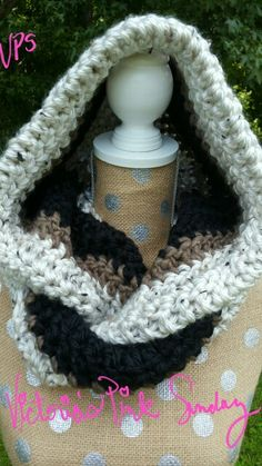 """My """"Hooded"""" Cowl neck scarf"""