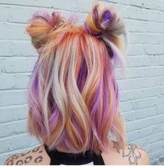 Unique Hair Colors Ideas For Women - All For Hair Color Balayage Unique Hairstyles, Summer Hairstyles, Pretty Hairstyles, Bun Hairstyles, 2017 Hairstyle, Hairstyles Videos, Easy Hairstyle, Everyday Hairstyles, Formal Hairstyles