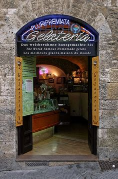 The World's Best Gelatto in San Gimignano, Italy....got to experience this the other day. Definitely the best!