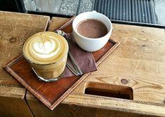 #flatwhite and #hotchockolate enjoyed in #emaespressobar #prague Coffee in Prague