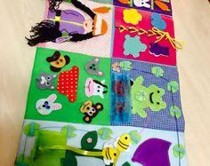 Developing Baby Play Mat busy mat Felt Play Mat Baby by MiniMoms