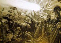 Tomb kings, par (auteur inconnu), in Warhammer Battle, par Games Workshop Fantasy Heroes, Fantasy Battle, Fantasy Races, Fantasy Art, Warhammer Tomb Kings, Warhammer Art, Warhammer Fantasy, Battle Of The Nile, Horror Fiction
