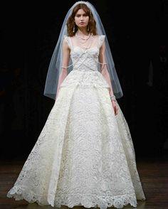 See all of the newest wedding dress trends from Spring 2018 Bridal Fashion Week. Naeem Khan Wedding Dresses, Naeem Khan Bridal, Wedding Dress Types, Most Beautiful Wedding Dresses, Wedding Dress Trends, New Wedding Dresses, Perfect Wedding Dress, Wedding Attire, Bridal Dresses
