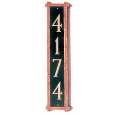 Montague Metal Products Mission Column Address Plaque Finish: Chocolate / Gold, Mounting: Wall