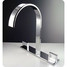 This modern chrome bathroom faucet is made from durable brass and features a sleek, contemporary design that transforms an ordinary bathroom into an upscale retreat. All of the hardware is included, making it easy to set up your new faucet immediately.
