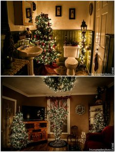 Country Christmas a must see house tour 31 Christmas trees!!
