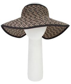 6691df843cc42 Looks like a crownless sun hat but it s a stylish wide brimmed sun visor  which rolls up and ties for easy transport.