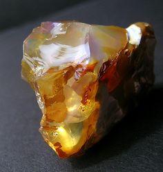 Fire Opal from Opal Butte, Oregon