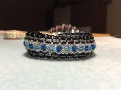 Swarovski beaded bracelet blue
