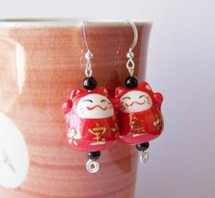 Maneki Neko earrings