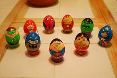 Super Hero Easter Eggs. Awesome.