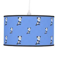 Cartoon panda pattern lamp