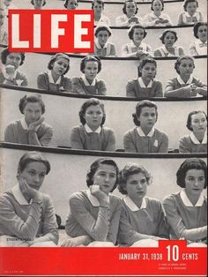Life Magazine January 1938 : Cover - Student nurses in class at New York's Roosevelt Hospital, feature of life of nursing students (sorry, the students in the photos aren't named), National Nurses Week, Time Magazine, Magazine Covers, Vintage Nurse, Vintage Medical, Life Cover, Time Of Your Life, Vintage Magazines, Vintage Photos