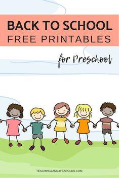 Free Back to School Printables for Preschoolers