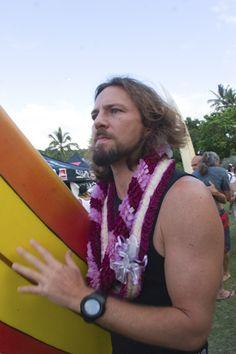 Eddie Vedder surfing.