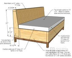 53 New Ideas Outdoor Patio Cushions Diy Ana White Diy Furniture Plans, Sofa Furniture, Furniture Projects, Furniture Design, Cheap Furniture, Sofa Design, Furniture Cleaning, Furniture Dolly, Luxury Furniture