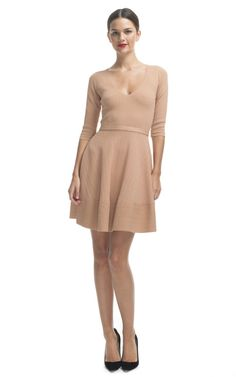 This nude dress is super simple but super nice!