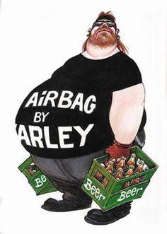 """Producto de temporada: """"Bolsas se Aire por Harley"""" (ni como negarlo despues de estas fiestas jajajajjaja) ✌️ Especially after the Holidays, right? LOL #SabaditoAlegre #HumorDisturbed #BikerHumor #DisturbedHumor #DisturbedTendencies"""