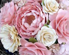 Papel hecho a mano Bouquet  papel flor ramo  por morepaperthanshoes