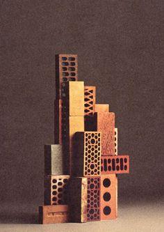 """bricks"" - still life for apartamento / concept: ana dominguez & omar sosa / photography: nacho alegre / assistant: robbie whitehead Brick Architecture, Architecture Details, Architecture Models, Futuristic Architecture, Contemporary Architecture, Contemporary Paintings, Fall Inspiration, Design Inspiration, Brick Art"