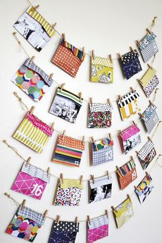 ADVENT POCKET ENVELOPES MADE WITH SCRAPBOOK PAPERS